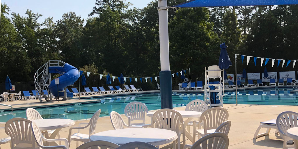 Abbington neighborhood pool in Apex NC