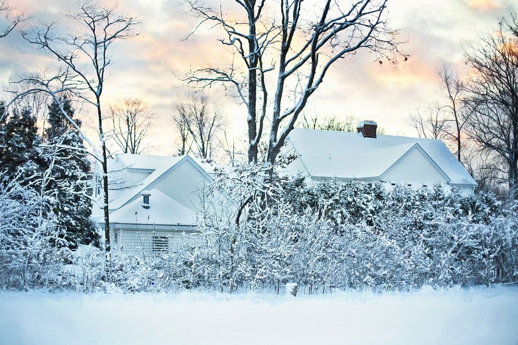 House in the snow