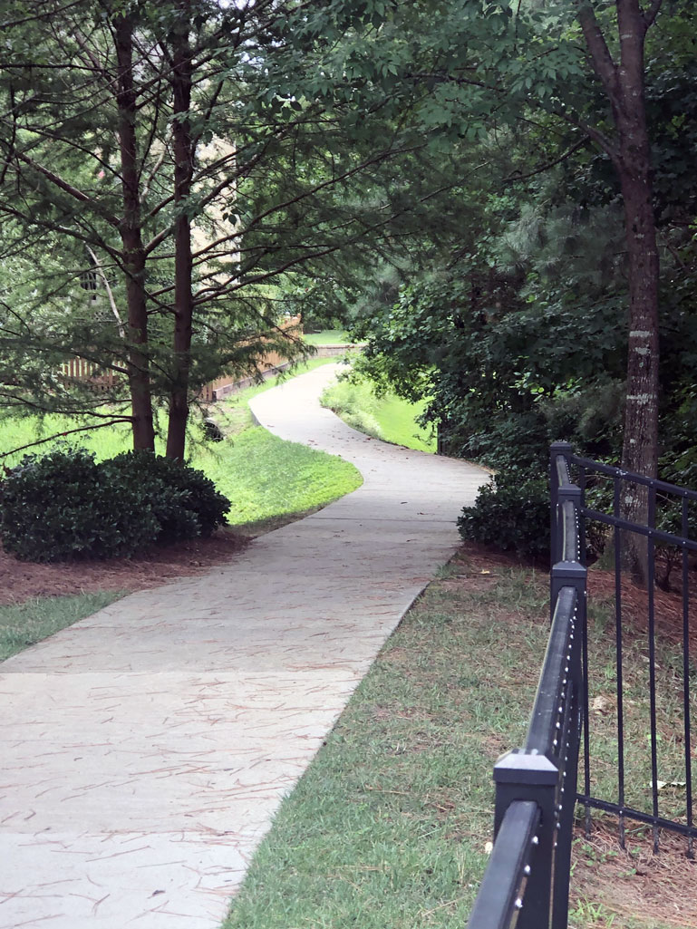 walking path in neighborhood Highcroft in Cary NC