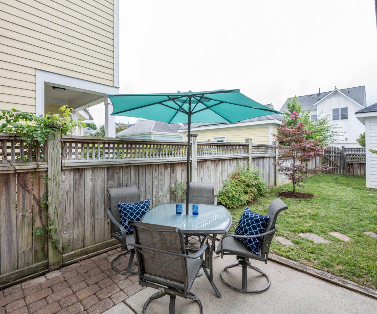 Backyard Cary Glen home for sale