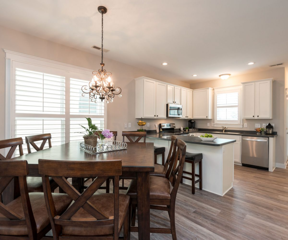 Kitchen and dining at Cary Glen house for sale
